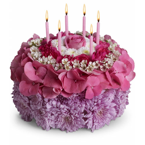 Birthday Cake Made Of Flowers Image Inspiration of Cake and