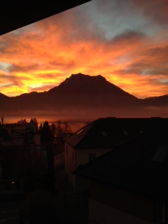 A view from Val's window at Salzburg, Austria