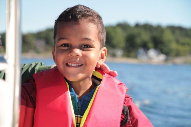 Sean on boat