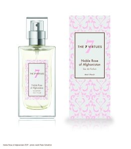 Noble Rose of Afghanistan Eau de Parfum Intense yet elegant rose fragrance, elegant and powerful with carnation, clove and peppercorn.