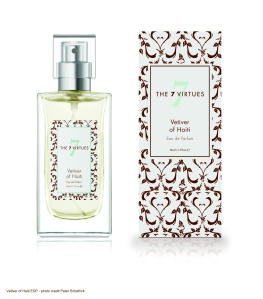 Vetiver of Haiti Eau de Parfum Bergamot, amber and lime tree make a contrasting frame to vetiver.