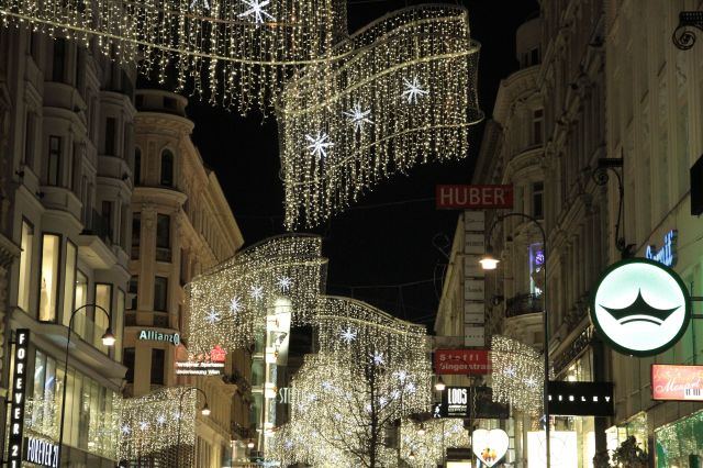 Kaerntnerstrasse lights