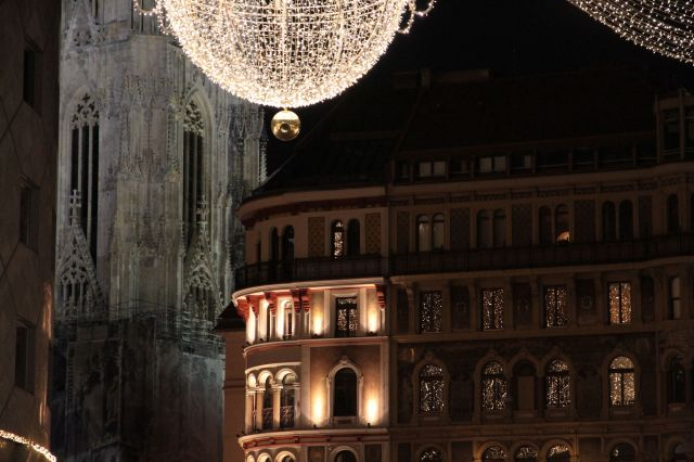 Stephansplatz lights