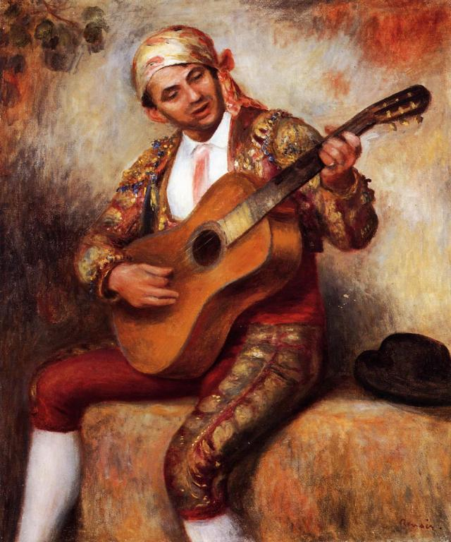 The Spanish Guitarist by Auguste Renoir