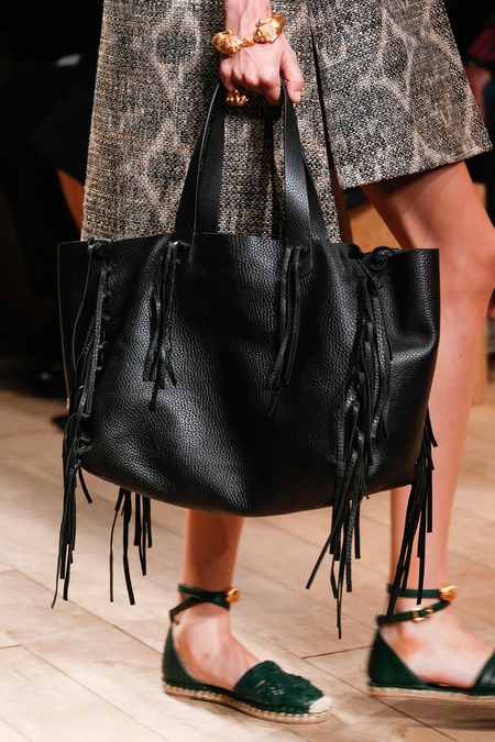 Valentino-Black-Fringed-Tote-Bag-Runway-Spring-2014