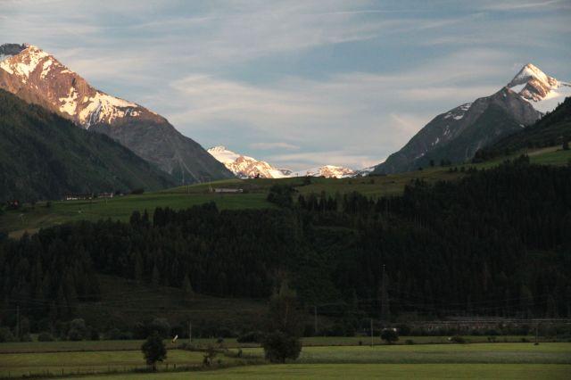 Mountain flat view