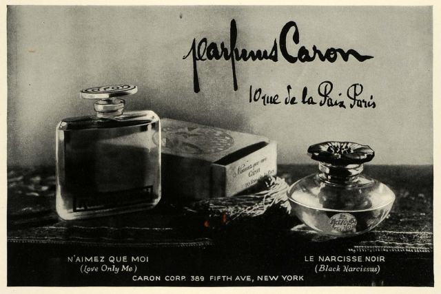 parfums caron vintage ad